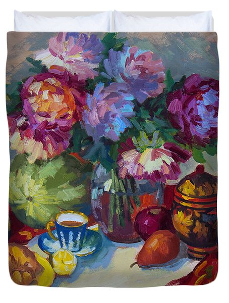 Russian Still Life Duvet Cover by Diane McClary