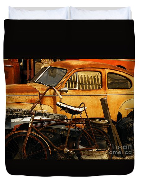 Rust Race Duvet Cover by Joe Jake Pratt