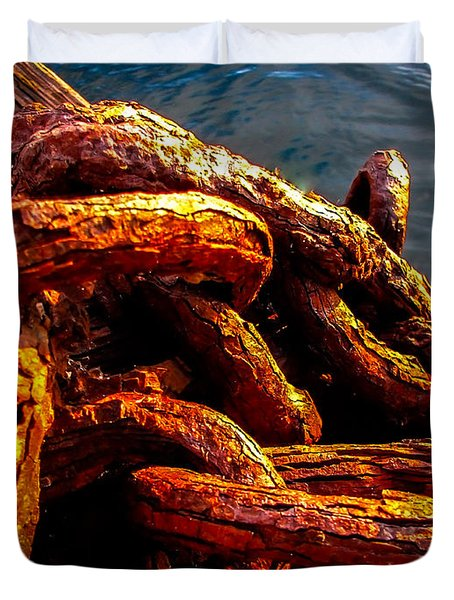 Rust Duvet Cover by Robert Bales