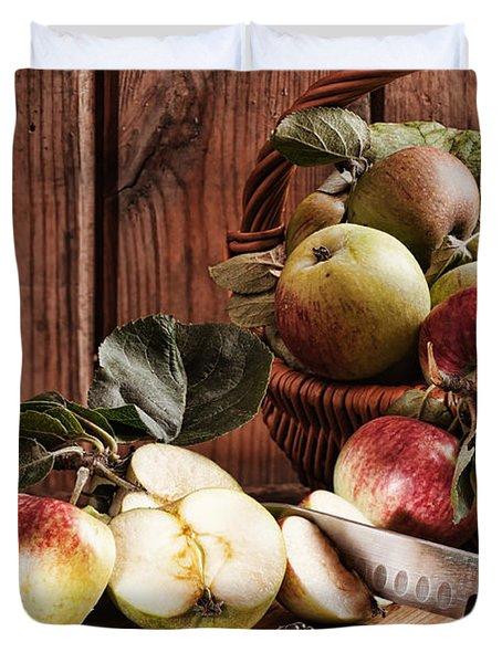 Rustic Apples Duvet Cover by Amanda And Christopher Elwell