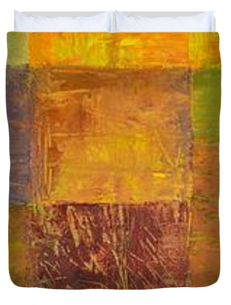 Rustic Layers 2.0 Duvet Cover by Michelle Calkins