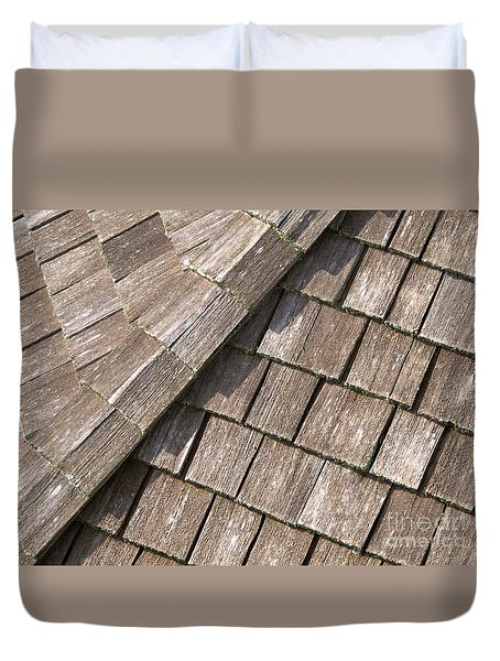 Rustic Rooftop Duvet Cover by Ann Horn