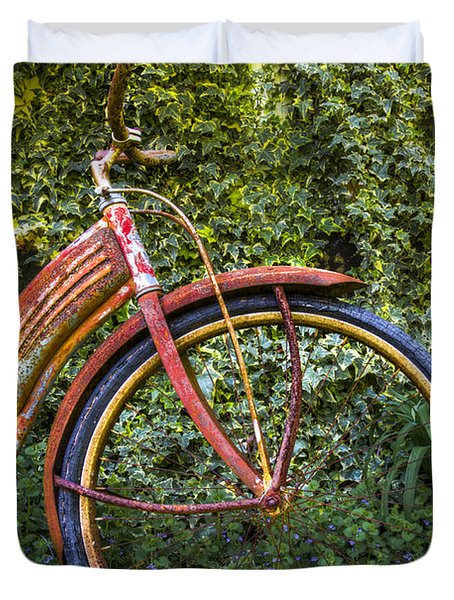Rusty Wheel Duvet Cover by Debra and Dave Vanderlaan