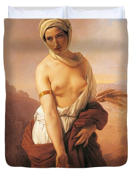 Ruth Duvet Cover by Francesco Hayez