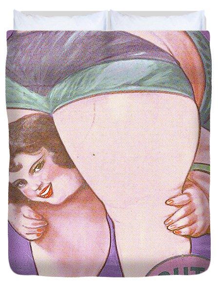 Ruth The Acrobat Circus Poster Duvet Cover by Tony Rubino
