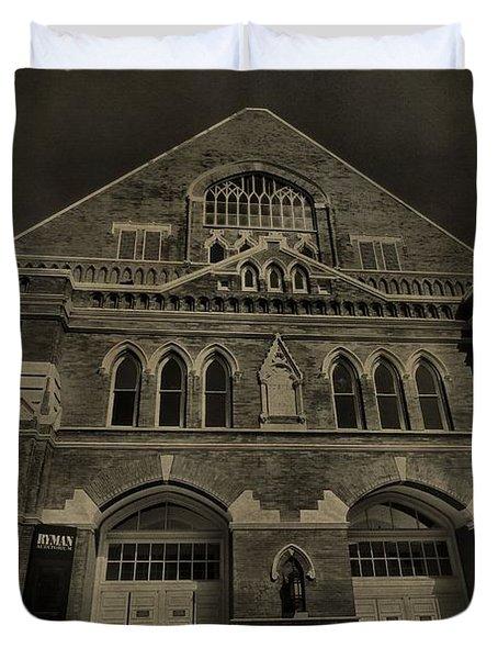 Ryman Auditorium Duvet Cover by Dan Sproul