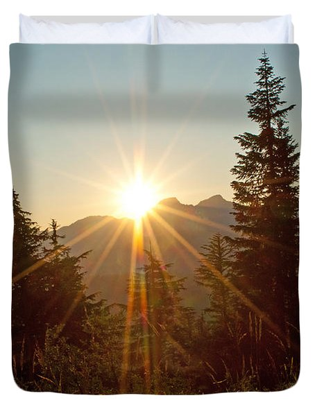 Sabbath Sunset Duvet Cover by Tikvah's Hope