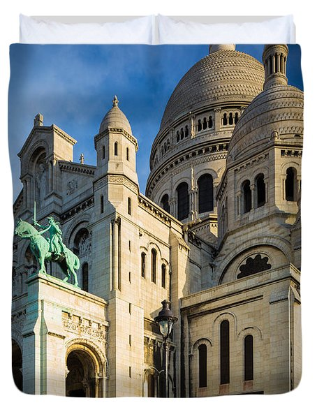 Sacre Coeur At Dawn Duvet Cover by Inge Johnsson
