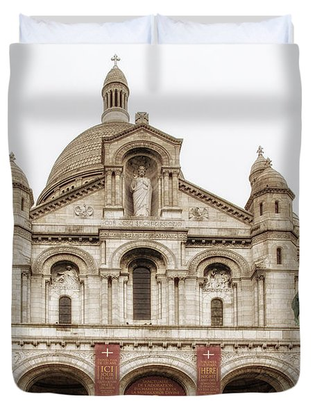 Sacre Coeur  Duvet Cover by Nomad Art And  Design