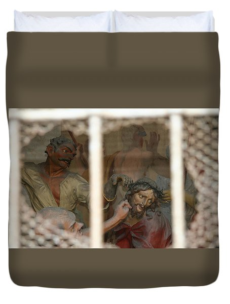 Duvet Cover featuring the photograph Sacri Monti  by Travel Pics