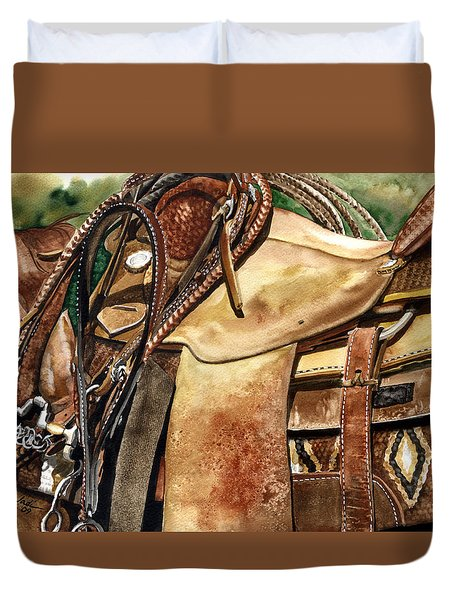 Saddle Texture Duvet Cover by Nadi Spencer