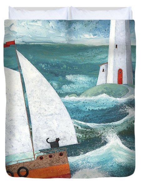 Safe Passage Variant 1 Duvet Cover by Peter Adderley