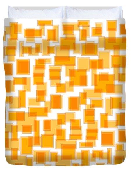 Saffron Yellow Abstract Duvet Cover by Frank Tschakert