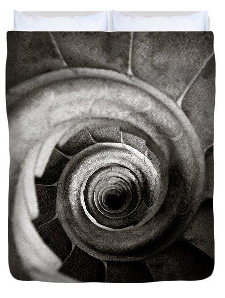 Sagrada Familia Steps Duvet Cover by Dave Bowman