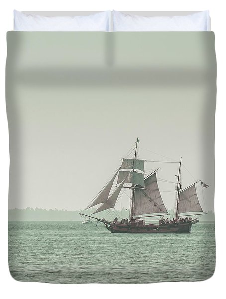 Sail Ship 2 Duvet Cover by Lucid Mood