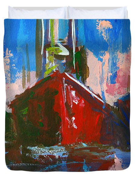 Sailboat Duvet Cover by Patricia Awapara