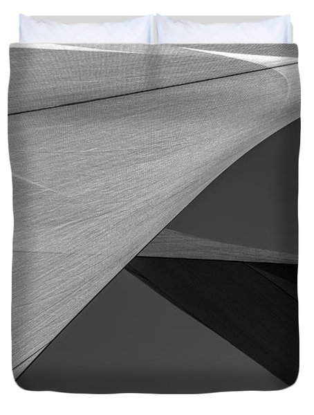 Sailcloth Abstract Number 9 Duvet Cover by Bob Orsillo
