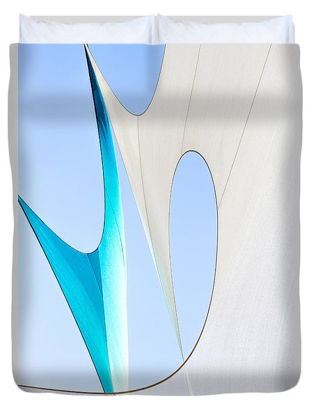 Sailcloth Abstract Number Twenty Duvet Cover by Bob Orsillo