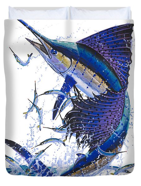 Sailfish Duvet Cover by Carey Chen
