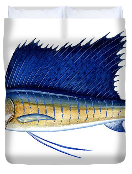 Sailfish Duvet Cover by Charles Harden