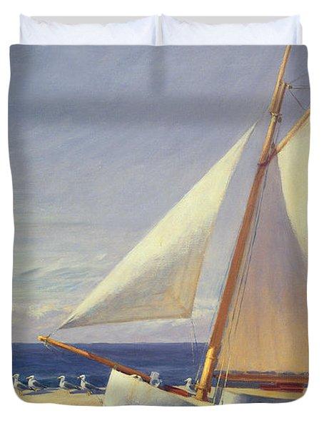 Sailing Boat Duvet Cover by Edward Hopper