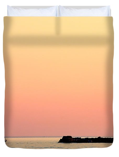 Sailing In Color Duvet Cover by Gary Heller
