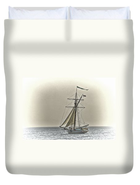 Sailing Off Duvet Cover by Jack R Perry