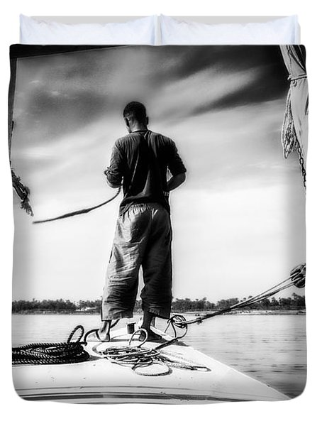Sailing On The Nile Duvet Cover by Erik Brede