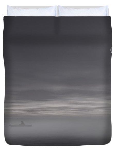Sailing Solitude Duvet Cover by Lourry Legarde