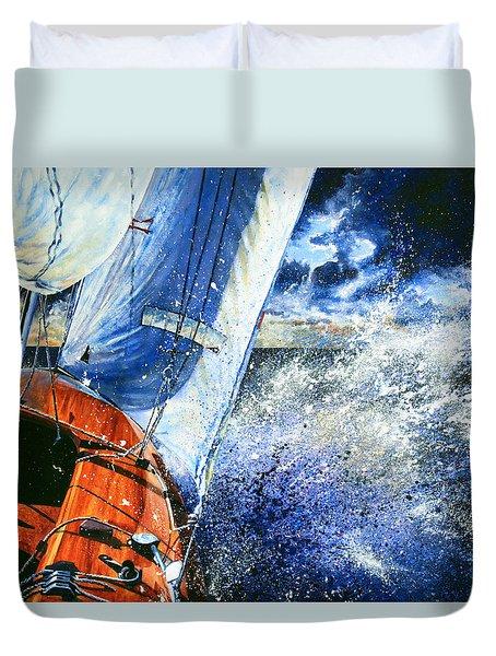 Sailing Souls Duvet Cover by Hanne Lore Koehler