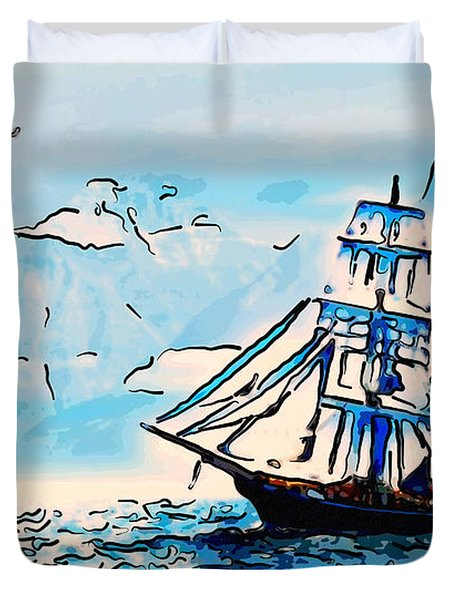 Sailing South 3 Duvet Cover by MotionAge Designs