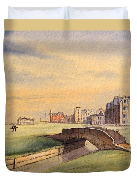 Saint Andrews Golf Course Scotland - 18th Hole Duvet Cover by Bill Holkham