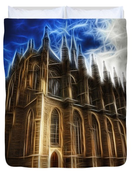 Saint Barbara Church Kutna Hora Duvet Cover by Michal Boubin