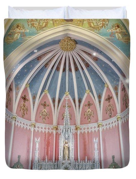 Saint Bridgets Altar Duvet Cover by Susan Candelario
