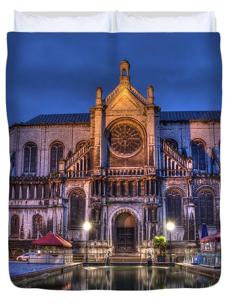 Saint Catherine Church. Brussels Duvet Cover by Juli Scalzi