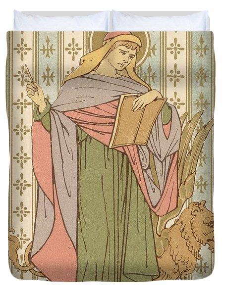 Saint Mark Duvet Cover by English School