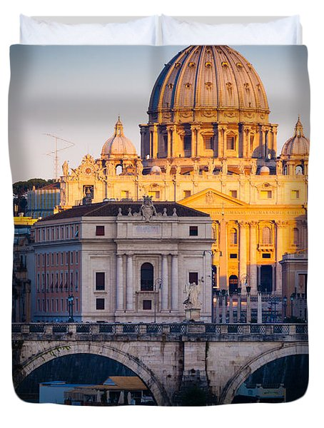 Saint Peter's Dawn Duvet Cover by Inge Johnsson