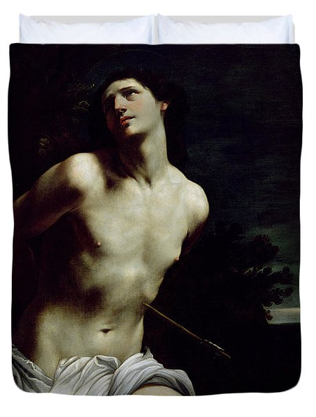 Saint Sebastian Duvet Cover by Guido Reni