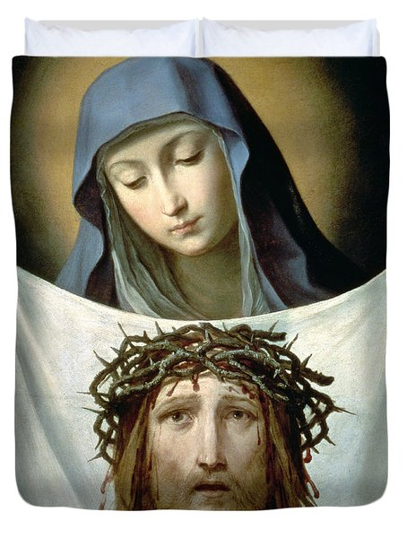 Saint Veronica Duvet Cover by Guido Reni