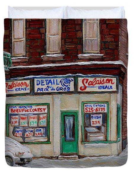 Salaison Ideale Montreal Duvet Cover by Carole Spandau