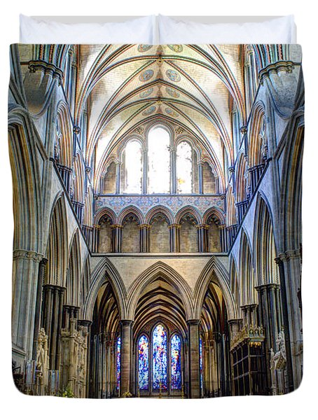Salisbury Cathedral Duvet Cover by Juli Scalzi