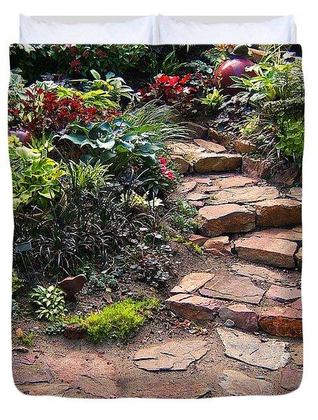 Sally's Garden Duvet Cover by Nancy Harrison