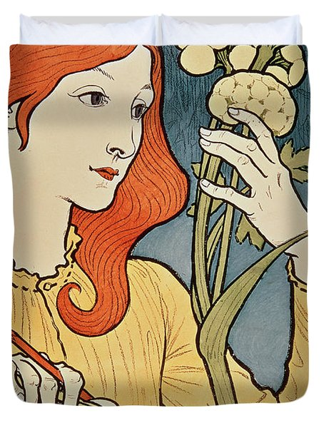 Salon Des Cent Duvet Cover by Eugene Grasset