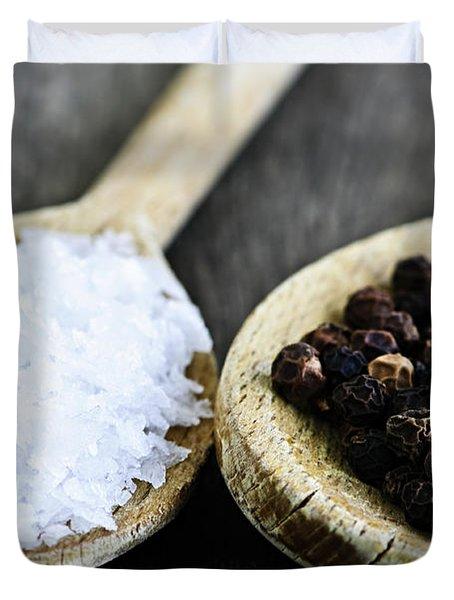 Salt and pepper Duvet Cover by Elena Elisseeva