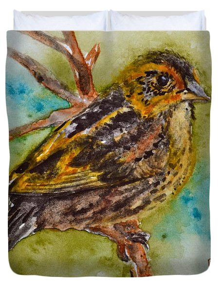 Saltmarsh Sparrow Duvet Cover by Beverley Harper Tinsley