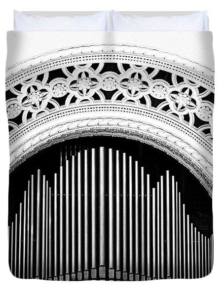 San Diego Spreckels Organ Duvet Cover by Christine Till