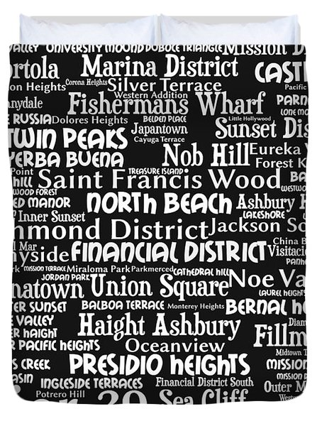 San Francisco 20130710bw Duvet Cover by Wingsdomain Art and Photography