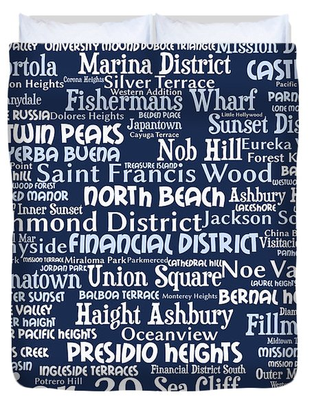 San Francisco 20130710bwco80 Duvet Cover by Wingsdomain Art and Photography