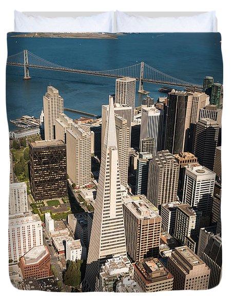 San Francisco Aloft Duvet Cover by Steve Gadomski