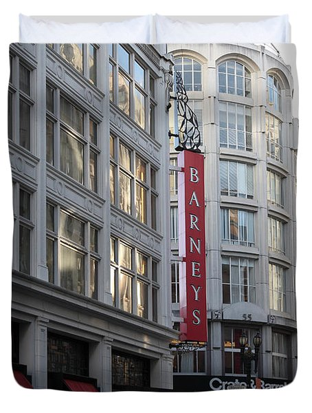 San Francisco Barneys Department Store - 5D20543 Duvet Cover by Wingsdomain Art and Photography